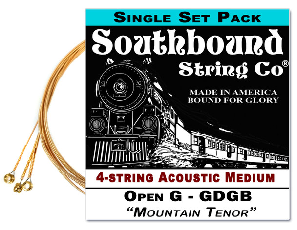 """Mountain Tenor"" GDGB String Set for 23"" Scale 4-string  Acoustic Cigar Box Guitars"