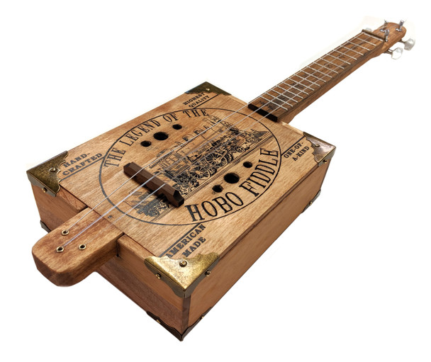 Hobo Fiddle DIY Kit by Ben Gitty Baker - example of completed kit.