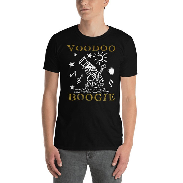 """Voodoo Boogie"" Cigar Box Guitar T-Shirt"