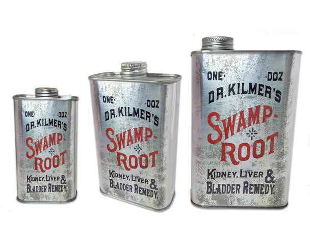 Swamp Root Patent Medicine Can (EMPTY) - Choose Size - Great for Canjos, Resonators & More!