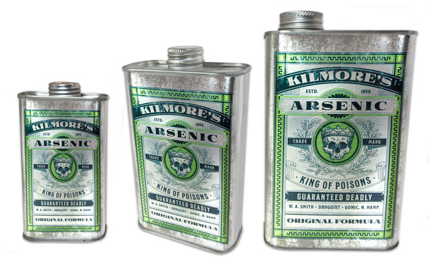 Kilmore's Arsenic Poison Can - Choose Size - Great for Canjos, Resonators & More!