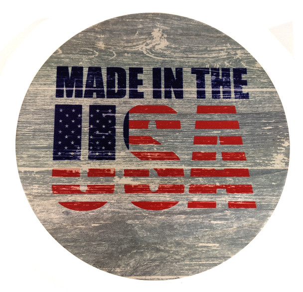"""""""Made in the USA"""" ResoDisk Box Topper for Cigar Box Guitars"""