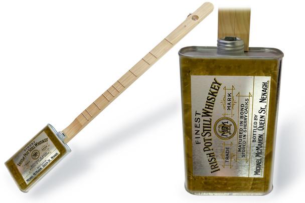 """Spirits Canjo Series: """"Irish Whiskey"""" One-string Tin Can Banjo"""