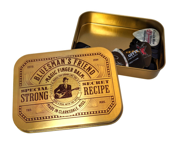 """""""Bluesman's Friend"""" Pick Case with 25 Gitty Picks - A Great Gift for Guitarists!"""