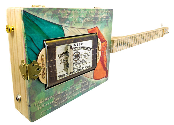 "The ""Irish Whiskey"" Canned Heat 3-string Resonator Cigar Box Guitar"
