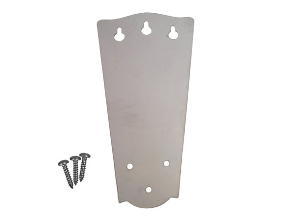 3-string Classic Cigar Box Guitar Tailpiece - Stainless Steel