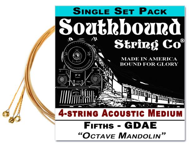 """Octave Mandolin"" GDAE String Set for 23-25"" Scale 4-string  Instruments"