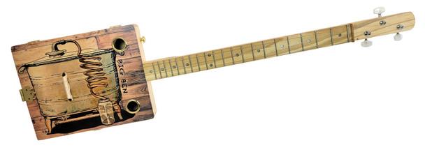 """Big Ben's Still"" 3-string Illustrated Cigar Box Guitar - Beautiful Original Design"