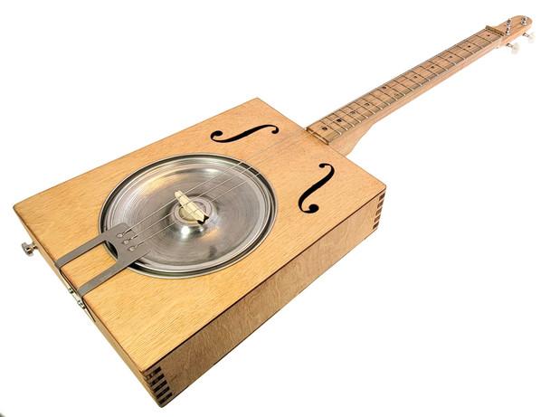 """Hubcap Howler"" Resonator Guitar Kit - Authentic Blues"