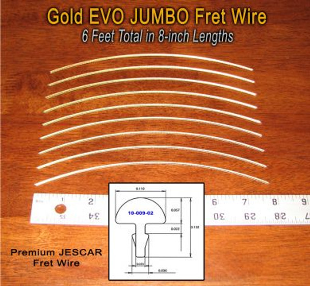 Jescar Jumbo GOLD EVO Fret Wire (6 ft)