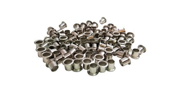 100-pack 1/4-inch Tuner Bushings/Ferrules - choose finish color