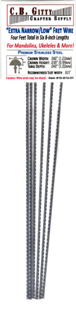 Jescar Narrow/Extra Low Stainless Steel Fret Wire (4 ft)