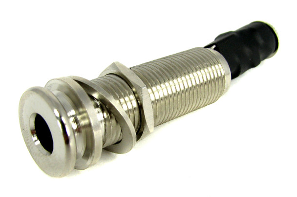 Chrome Guitar End-Pin Strap Button Jack with 2.5mm Input Jack