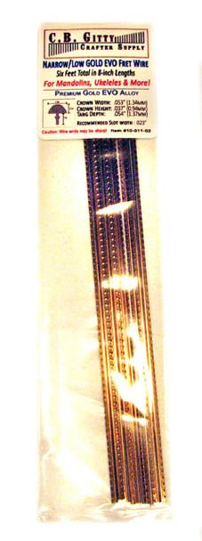 Jescar  Narrow/Low GOLD EVO Fret Wire (4 ft)
