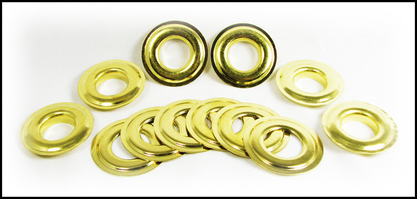 "6pc. #6 (13/16"" Inside Diameter) Brass Grommets"