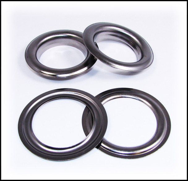 2-pack Large (1.5-inch) Gun Metal Grommets w/Washers