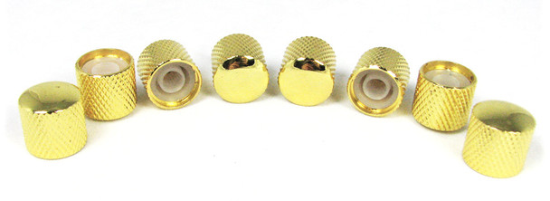 8-pack Gold Dome Press-Fit Knobs