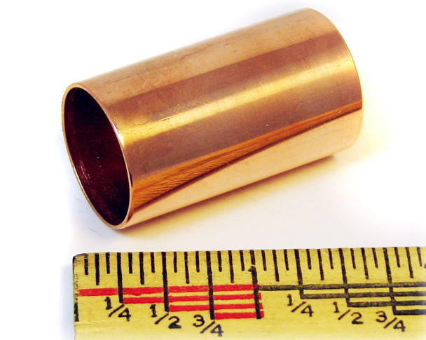 """Stubby"" Polished Copper Guitar Slide: 1 1/2"" long - Made in the USA!"