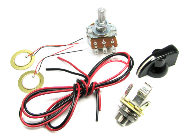 Basic Piezo Pickup Kit for Cigar Box Guitar - Instructions Included!