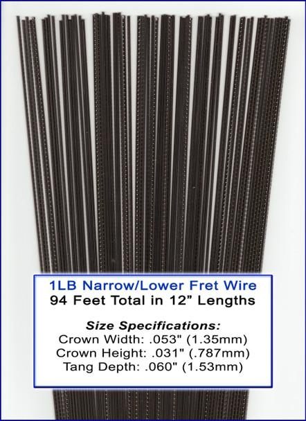 1LB Bulk Fret Wire - NARROW/LOWER Nickel-Silver