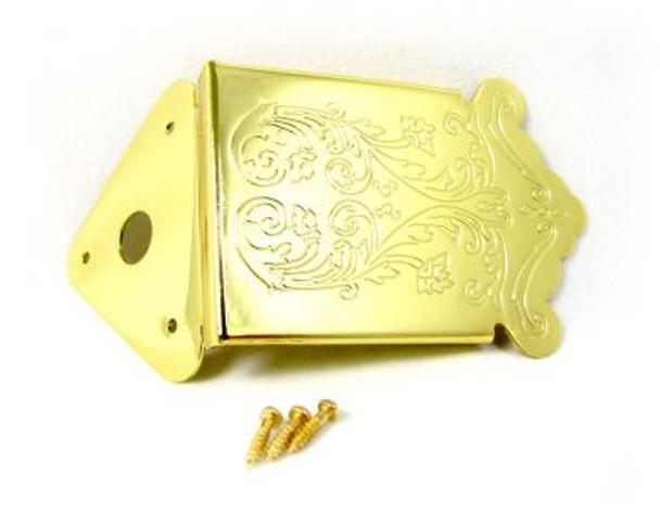 Gold Mandolin/Cigar Box Guitar Tailpiece