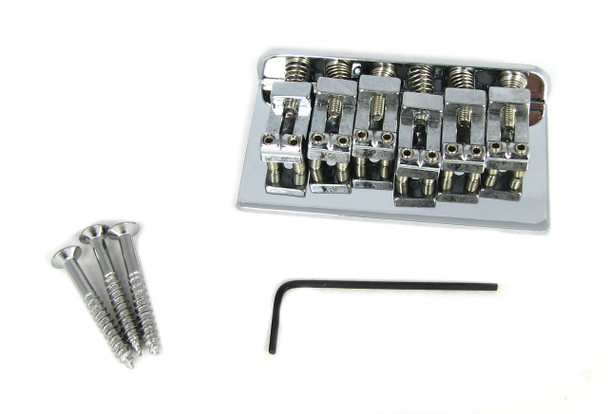 Chrome Adjustable Bridge for Electric 6-string Guitar