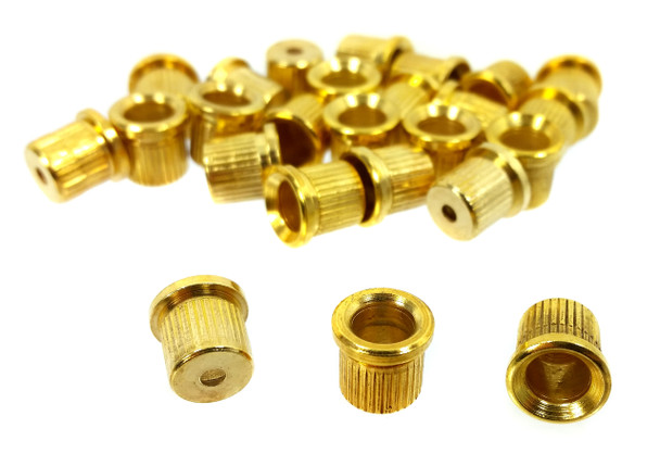 25pc. Gold Cup-style String Ferrules
