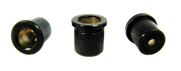 3pc. Black Cup-style String Ferrules for Guitar & More