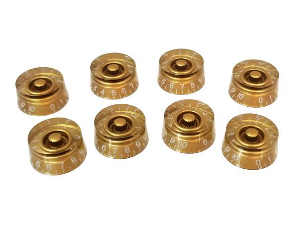 8pc. Gold Gibson(tm)-style Acrylic Speed Knobs