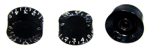 2pc. Black Gibson(tm)-style Acrylic Speed Knobs