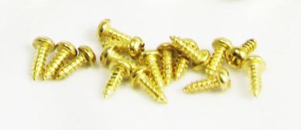 """100pc. #2 x 1/4"""" Gold Round Phillips-Head Screws"""