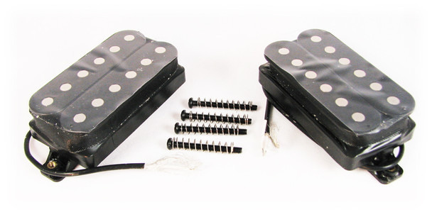 Black Strat(tm)-style Humbucker Set - Neck and Bridge Matched Pair