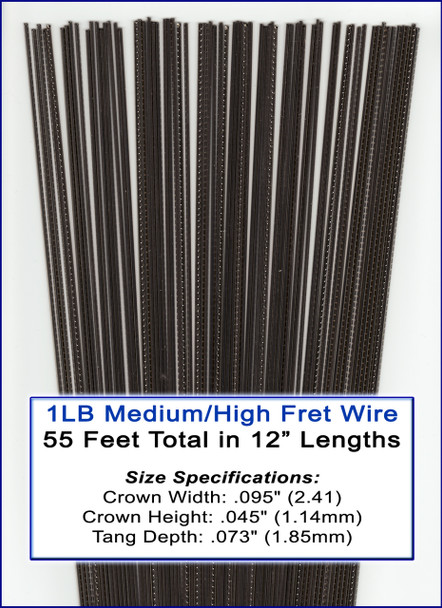 1LB Bulk Fret Wire - Medium/High Nickel Silver