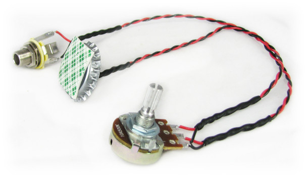 "C. B. Gitty's ""Cap-o-Tone"" Standard - Piezo Pickup Harness for Cigar Box Guitars - Includes How-To Guide"