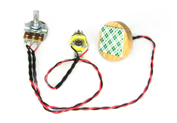 "C. B. Gitty's ""Disc-o-Tone"" Standard - Piezo Pickup Harness for Cigar Box Guitars - Includes How-To Guide"