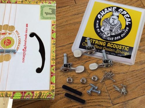 """Poor Man's Guitar"" Book Parts Pack: Chapter 2 - 3-string Cigar Box Guitar"