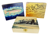 """Vivigraphic"" Illustrated Wooden Cigar Boxes - Choose your print from our gallery of images"