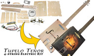 "The ""Tupelo Tenor"" 4-string Electric Box Guitar Kit - Easy to Build, Great Acoustic Tone"