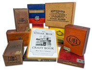 Cigar Box DIY Crafting Kit - Ten (10) Cigar Boxes and 60-page How-to Guide