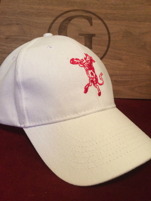 White Hat with Red Steak Dance Logo  (w/Free Bottle of Steak Dance*)