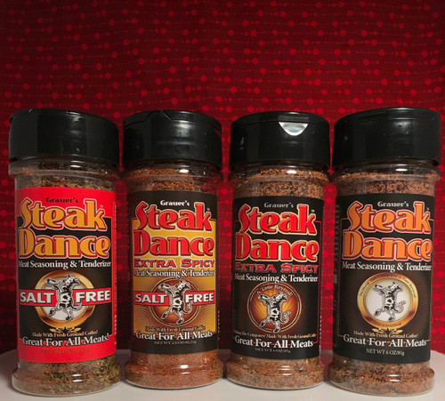 Steak Dance, Extra Spicy Steak Dance, Salt Free Steak Dance, Salt Free Extra Spicy