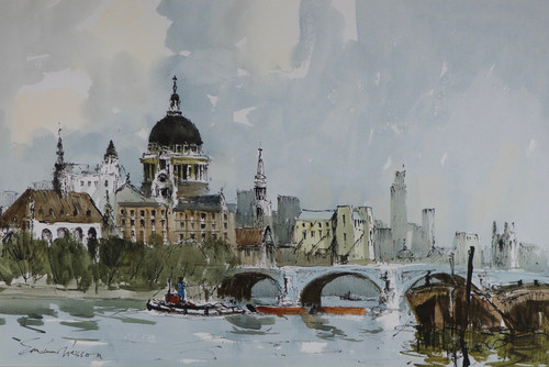 'Thames view near St Paul's' - Edward 'Ted ' Wesson