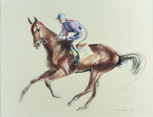 'Cantering to the Start' by John Rattenbury Skeaping