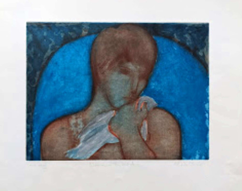'Woman with Bird' by Sheila Oliner - SOLD