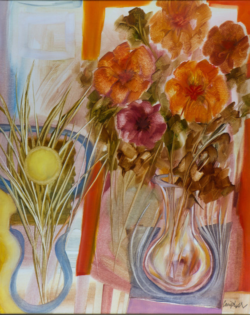 Orange Flowers by Peter Campbell
