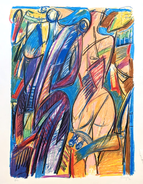 Untitled Artist Proof Lithograph  by Alfonso Borghi -