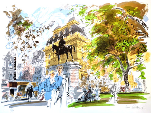 A limited edition lithograph of Victoria Station by Ian Ribbons
