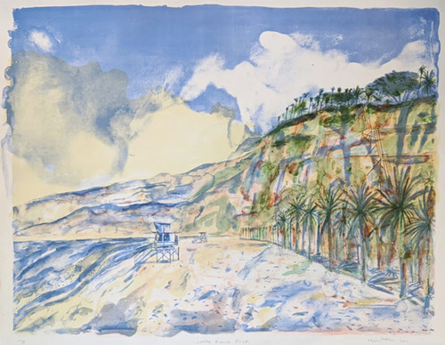 'Santa Monica Beach' by Christopher Corr – signed limited edition lithograph