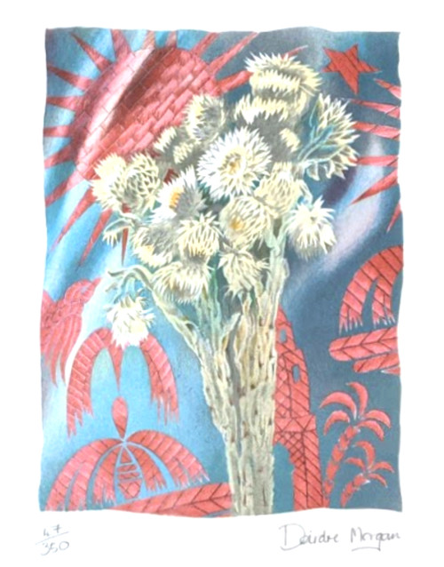 Untitled Floral Lithograph by Deirdre Morgan