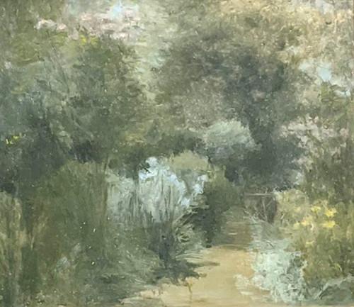 'Garden Scene' by Nadia Cockayne - Oil on Board
